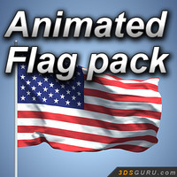3d flag wind animation