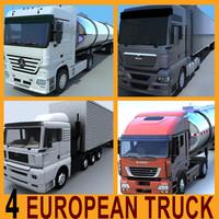 3d 4 european truck man model