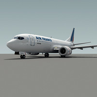 737-300 plane air france 3d model