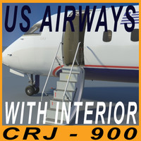 CRJ900 US AIRWAYS with interior