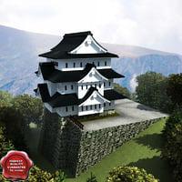 3d hirosaki castle