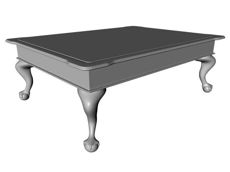 Clawfoot Coffee Table C4d