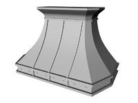 3d decorative hood model