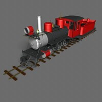 on30 steam engine coal 3d model