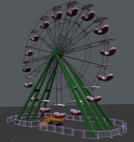 ferris wheel 3d model - Ferris Wheel... by Ethereal 3D