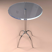 free modern table 3d model