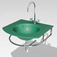 3d model glass wash-stand