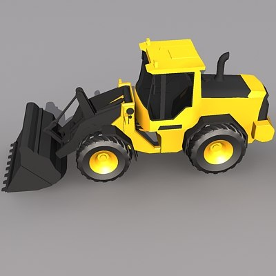 Low Poly L70-F Wheel Loader.MAX