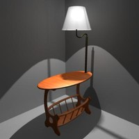 obj lamp table