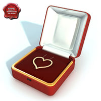 3d model necklace heart