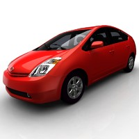 3d model toyota prius car