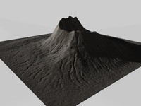 3d mountain terrain landscape model