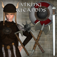Viking Weapons for Poser 6+