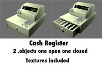 3d model of cash register