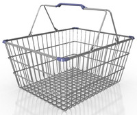 3d res shopping basket model