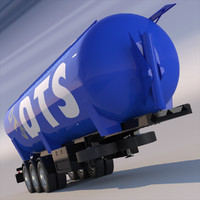 3d tipping trailer silo model