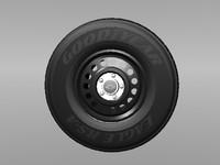 3d steel police rim tire model