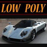 Low Poly Pagani Zonda
