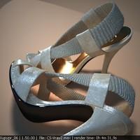 shoe carlos santana 3d model