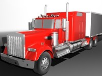 american highway truck 3d model