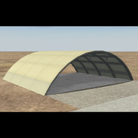 Flow-thru Canvas Hangar