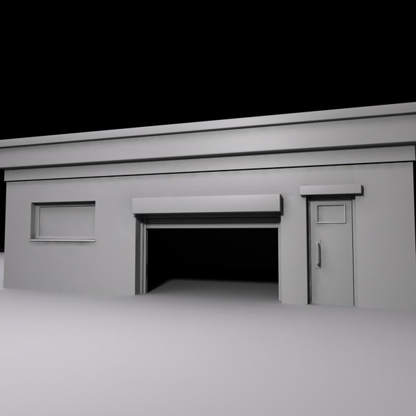 Garage 3d model for 3d garage builder