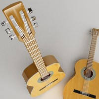 accoustic guitar 3d max