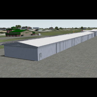 general aviation hangar 3d model