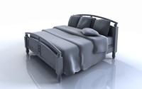 Modern King Bed 3D Model