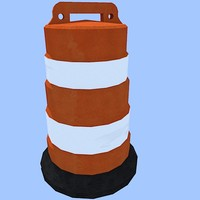 road traffic barrel 3d model