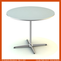 AJ Circular Table 90x90x70 A623