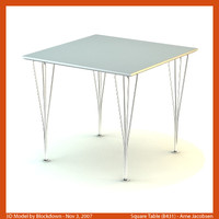 3d model arne jacobsen table