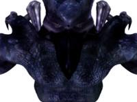 3d bird alien