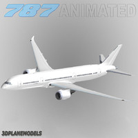 b787-9 generic white 787-9 3ds