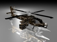 apache helicopter 3d max