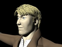 3d male character man model