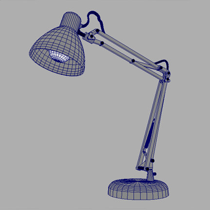 maya office desk lamp - Desk_Lamp.mb... by johnsely