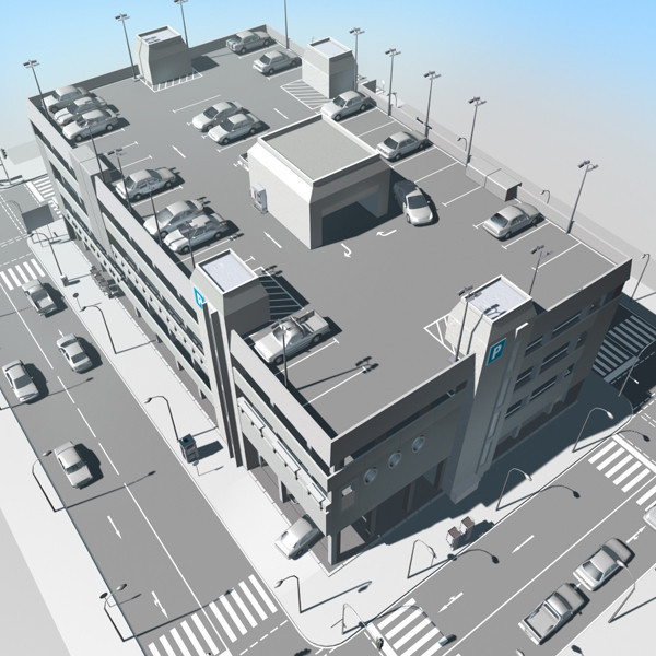 3ds max parking garage - Parking Garage... by 3D_Garden