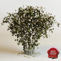 hi-poly bush flowers v5 3d model