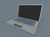 3d model of macbook pro