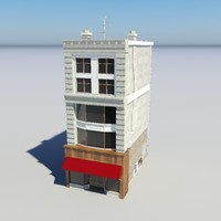 3ds max city building store -