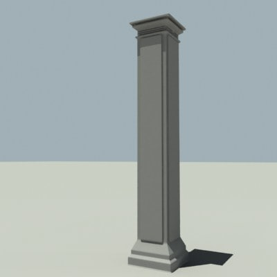 3d Decorative Columns