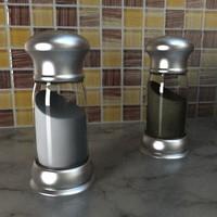 3ds salt pepper shaker set