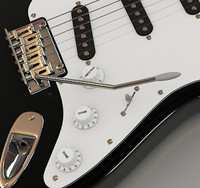 stratocaster electric guitar 3d model