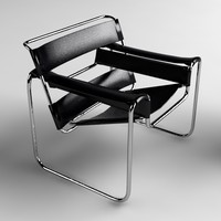 3d marcel breuer wassily chair model