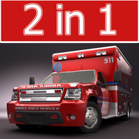 Emergency Ambulance Vol4 truck 2in1