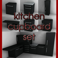 kitchen cupboard set 3d model