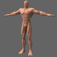 male hero anime character 3d model