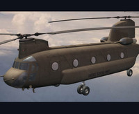3d ch-47 chinook helicopter model