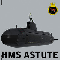 UK Navy HMS Astute (S119) Nuclear Attack Submarine